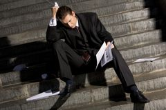 Homme d'affaires frustrant Images stock