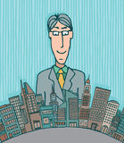 Homme d'affaires géant Illustration Libre de Droits