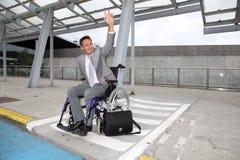 Homme d'affaires handicapé Photos libres de droits