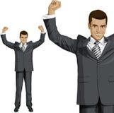 Homme d'affaires With Hands Up de vecteur Photographie stock libre de droits