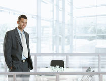 Homme d'affaires heureux photos stock