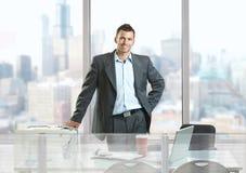 Homme d'affaires heureux Images stock