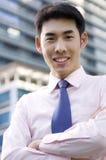 Homme d'affaires heureux Photographie stock
