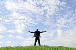 Homme d'affaires heureux Photographie stock libre de droits