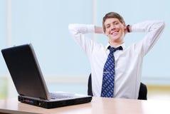 Homme d'affaires heureux Image libre de droits
