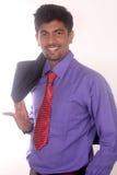 Homme d'affaires heureux de son succès Photographie stock