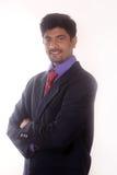 Homme d'affaires heureux de son succès Images libres de droits