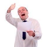 Homme d'affaires heureux de succesfull Photos stock