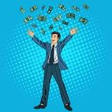 Homme d'affaires heureux Succès dans les affaires Homme d'affaires réussi illustration de vecteur