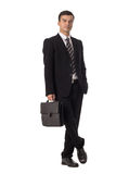 Homme d'affaires Holding Briefcase image stock