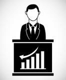 Homme d'affaires Icon Image libre de droits