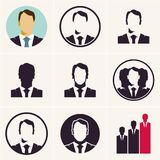 Homme d'affaires Icon amorce Patron illustration stock