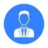 Homme d'affaires Icon Avatar simple, icône du grand avatar Photos libres de droits
