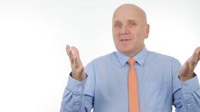 Homme d'affaires Image Gesturing et parler lors d'une réunion d'affaires photo stock