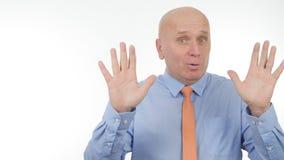 Homme d'affaires Image Gesturing et parler lors d'une réunion d'affaires photographie stock libre de droits