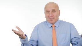 Homme d'affaires Image Gesturing et parler lors d'une réunion d'affaires images stock