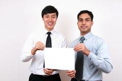 Homme d'affaires indien et chinois. images libres de droits