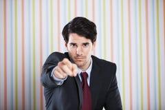 Homme d'affaires indiquant vous Photographie stock