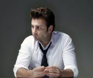 Homme d'affaires intéressé Photo libre de droits