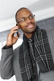 Homme d'affaires intelligent au téléphone Image stock