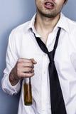 Homme d'affaires ivre et malpropre Photo libre de droits