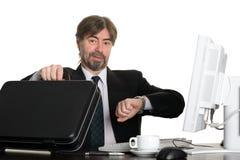 Homme d'affaires joyeux image libre de droits
