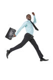 Homme d'affaires Jumping Image stock