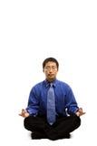 Homme d'affaires méditant Image libre de droits