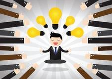 Homme d'affaires méditatif Concept Images stock