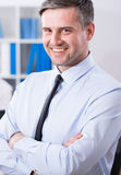 Homme d'affaires mûr avec le sourire de beauté Images stock