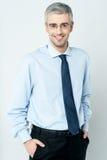 Homme d'affaires mûr de sourire Image libre de droits