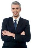 Homme d'affaires mûr sûr de sourire Images libres de droits