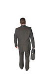 Homme d'affaires marchant loin Images stock