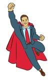 HOMME D'AFFAIRES MULTICOLORE DE SUPERMAN D'ILLUSTRATION Photo stock