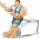 Homme d'affaires musculaire illustration de vecteur
