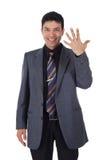 Homme d'affaires népalais attirant, doigts Photo stock
