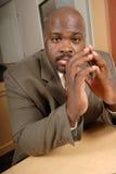 Homme d'affaires nerveux Image libre de droits