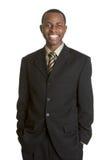 Homme d'affaires noir Photographie stock