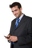 Homme d'affaires obtenant paginé Images libres de droits
