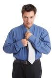 Homme d'affaires obtenant rectifié image libre de droits