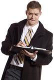 Homme d'affaires occupé Image stock