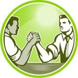 Homme d'affaires Office Worker Arm luttant Illustration Stock