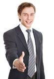 Homme d'affaires offrant une poignée de main Image libre de droits