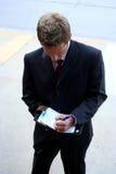 Homme d'affaires organisé Photos libres de droits