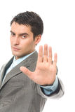 Homme d'affaires ou agent de sécurité Photo libre de droits