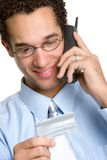 Homme d'affaires par la carte de crédit Images libres de droits