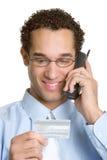 Homme d'affaires par la carte de crédit Images stock