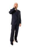 Homme d'affaires parlant au téléphone Photo stock