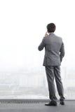 Homme d'affaires parlant par le téléphone photo stock