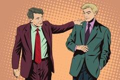 Homme d'affaires parlant quelque chose un collègue Illustration courante illustration stock